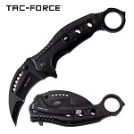 Rescue Karambit Thumb Ring Assisted Opening Folding Pocket Knife Black