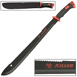 Zombie Killer Red Outdoor Hiking and Backpacking Bolo Machete Knife