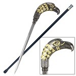 Eagle Tribute Golden Custom Sword Cane