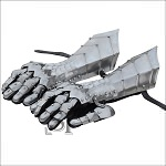 Fantasy Gothic Articulated Medieval Gauntlets Gloves 18G Steel