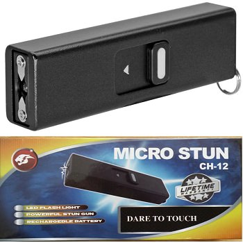 Micro USB Self Defense Stun Gun Rechargeable With LED Light Keychain