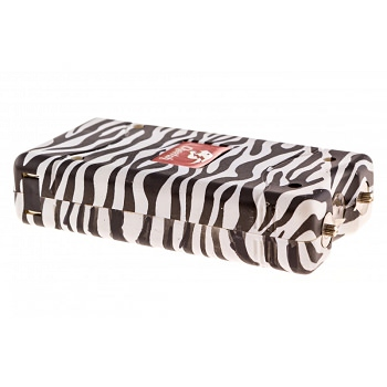 Zebra Print Max Power 10 Million Volt Stun Gun Rechargeable LED Light