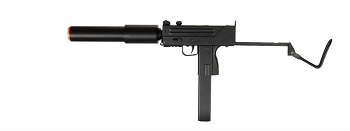 DE M-10 Mac 11 Metal Gearbox Submachine Airsoft SMG with Barrel Extension