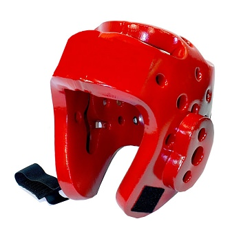Martial Arts Protective Head Gear Red - Sparring Karate Taekwondo Size X-Large