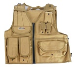Swiss Arms Tan Tactical Airsoft Lightweight Vest Mesh With Pouches