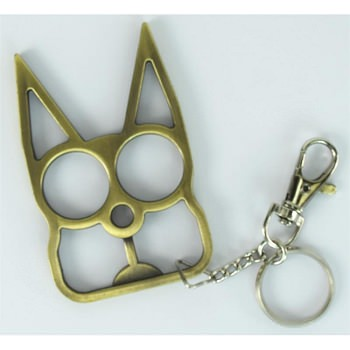 Cat Self Defensive Key Chain Champagne Finish