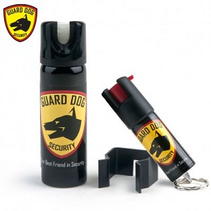 Red Home & Away Protection Kit Pepper Spray - 1/2 oz Keychain + 3 oz