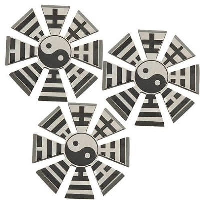 3 Pcs Yin Yang Shinobi Throwing Star Set - Pouch