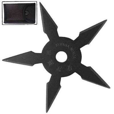 Secret Khoga Ninja Five Points Throwing Star Black