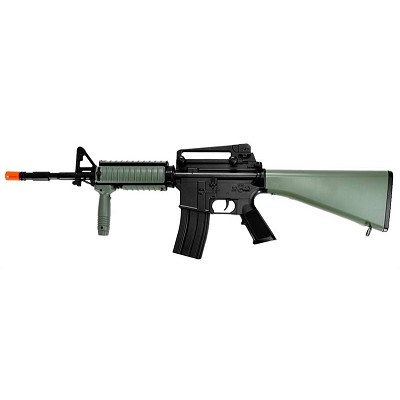 AEG Plastic Gear M4 with Rails, OD Color Full Stock