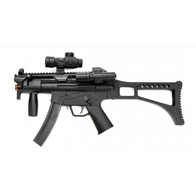 WELL Airsoft MR755 Spring Rifle with Laser & Flashlight
