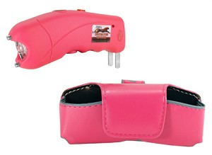 Pink Cyclone 2.5 Million Volt Rechargeable Stun Gun With LED Light