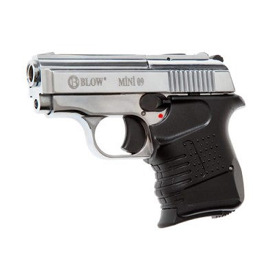 Blow Mini 09 Blank Firing Replica 9MM Gun - Chrome Finish