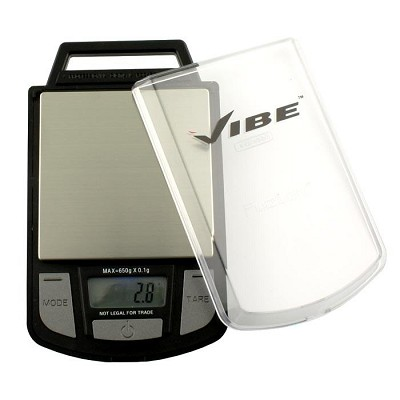 Vibe Black Digital Pocket Scale 250g x 0.1g - Calibration Weight