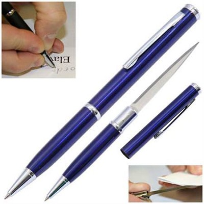 Elegant Executive Letter Opener Pen Knife Blue