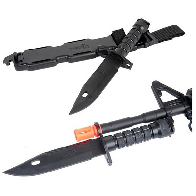 Tactical CA-07 Dummy M9 Bayonet Knife for M4-M16 Airsoft Rifles