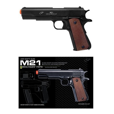 Airsoft Spring Pistol M21B Black Heavy Weight 1/1 Scale