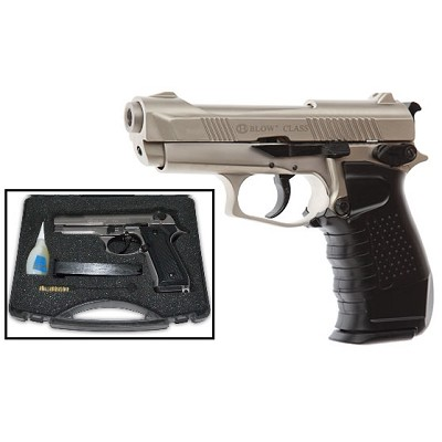 Blow Class Satin Finish 9MM Starter Pistol Blank Firing Gun
