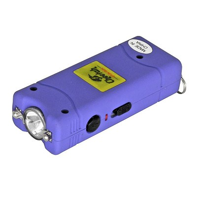 Nitro 2.5 Million Volt Stun Gun Rechargeable with LED light in Purple