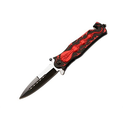 Spring Assist - Legal Auto Knife - Red Cobra Tactical Fighter