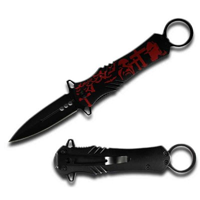 Spring Assist - 'Legal Auto Knife' - Intense Vampire Cross Dagger Style