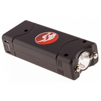 Black MAX POWER Rechargeable Mini Stun Gun With LED Light