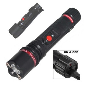 Powerful 10 Million Volt Flashlight Stun Gun Rechargeable