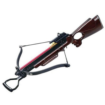 150 lbs Recurve Open Frame Wood Stock Rifle Crossbow