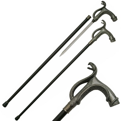 Serpent Cobra Gentleman's Walking Stick Cane Sword