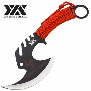 Zombie Killer Skullsplitter Throwing Axe - Day Zero Survival Red