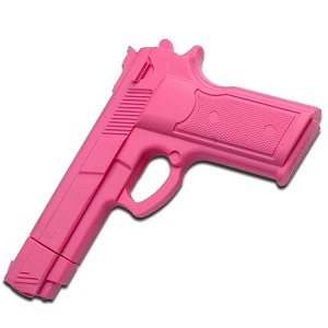 "7"" Pink Rubber Training Gun Real Look and Feel"