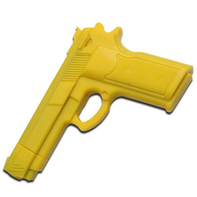 "7"" Yellow Rubber Training Gun Real Look and Feel"