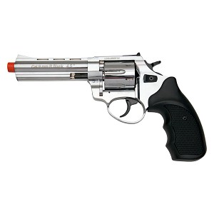 "Stalker R1 4.5"" Barrel Revolver Chrome Finish - 9mm Zoraki Blank Firing Gun"
