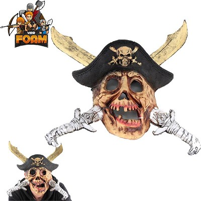 Pirate Treasure Skull Crossed Swords Hat Mask For Cosplay Halloween Masquerade