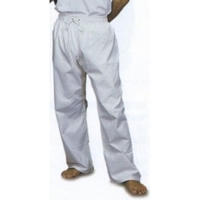 Middleweight Student Elastic Waist Pants - White Size 8