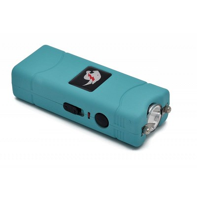 Blue MAX POWER Rechargeable Mini Stun Gun With LED Light