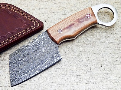 Custom Handmade Damascus Steel Karambit Sheepsfoot Knife 7