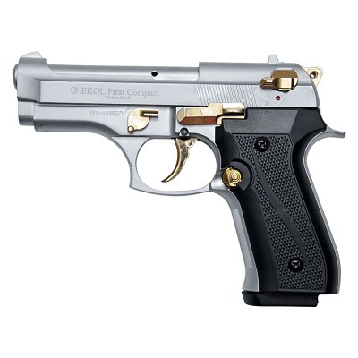 Compact V92F Nickel with Gold Fittings - Blank Firing Replica Gun