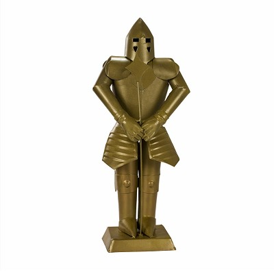 Suit of Armor Medieval Knight Golden Finish Decorative Collectible