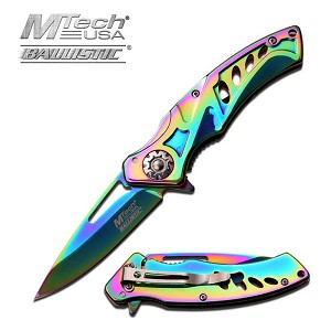 Mtech Assisted Open Vibrant Titanium Pocket Knife