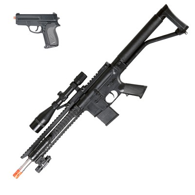 Spring P1137 Rifle Airsoft Pistol Combo Pack RIS Laser, Light, and Scope