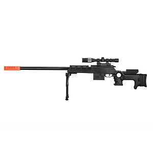 P2777 Model Semi-Auto Spring Airsoft Sniper Rifle BLACK Shoots 220 FPS