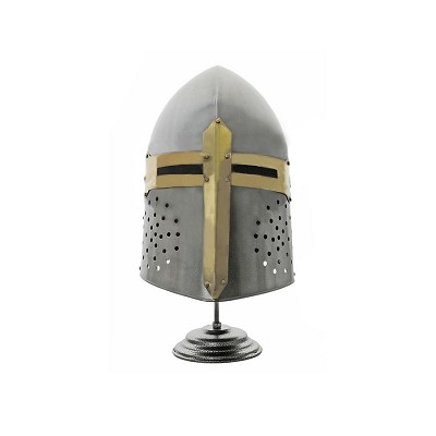 Decorative Knights Templar Sugar Loaf Helmet With Stand