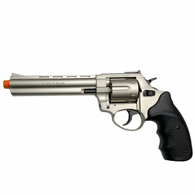 "Zoraki R1 6"" Barrel - Front Firing Blank Gun Revolver Satin Finish"