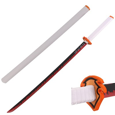 "41"" Foam Cosplay Anime Hashria Kyojuro Fire Sword with Scabbard"