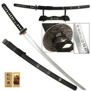 "Last Samurai Sword ""Compassion, Courtesy, & Sincerity"" With Stand"