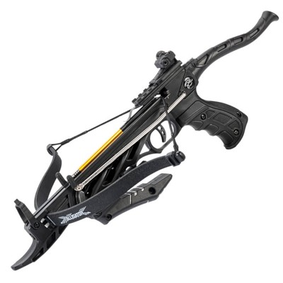 80lb Self Cocking Pistol CrossBow With Forearm Grip Black