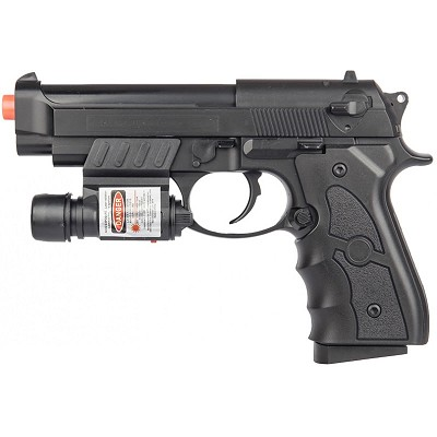 G52R Airsoft Spring Powered Pistol with Laser