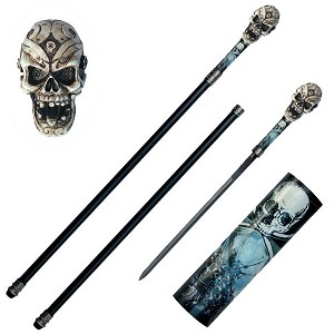Skull Walking Sword Cane